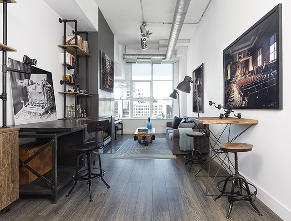 featured posts image for Modern loft space offers a slick bachelor pad in Toronto
