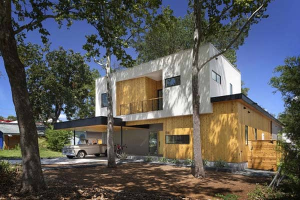 "featured posts image for Modern ""tree house"" residence reflecting its surroundings in Austin"