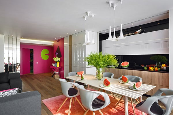 featured posts image for Fresh and colorful apartment in Russia by Bazant Studio
