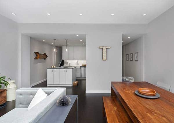 featured posts image for East Village duplex mixes clean lines with warm materials