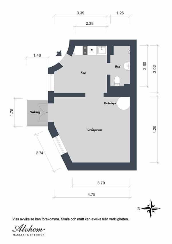 Gothenburg Studio Apartment-24-1 Kindesign