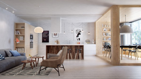 featured posts image for Charming Russian apartment with open and functional interiors