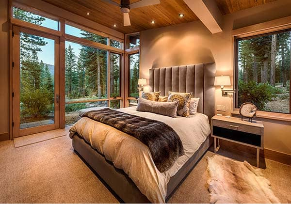 Mountain modern home perfect for entertaining in martis camp for Mountain modern bedroom