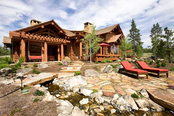 Stunning mountain rustic log cabin in the montana wilderness for Cabin builders montana