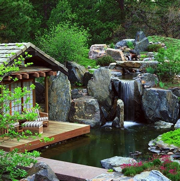 Tranquil Backyard Waterfalls-05-1 Kindesign