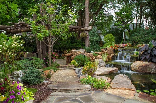 Tranquil Backyard Waterfalls-07-1 Kindesign