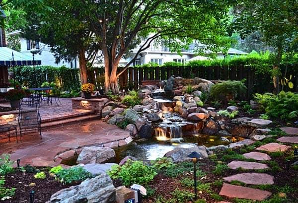 Tranquil Backyard Waterfalls-09-1 Kindesign