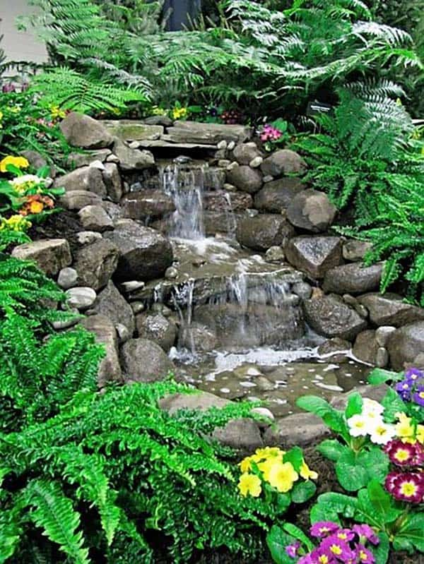 Tranquil Backyard Waterfalls-11-1 Kindesign