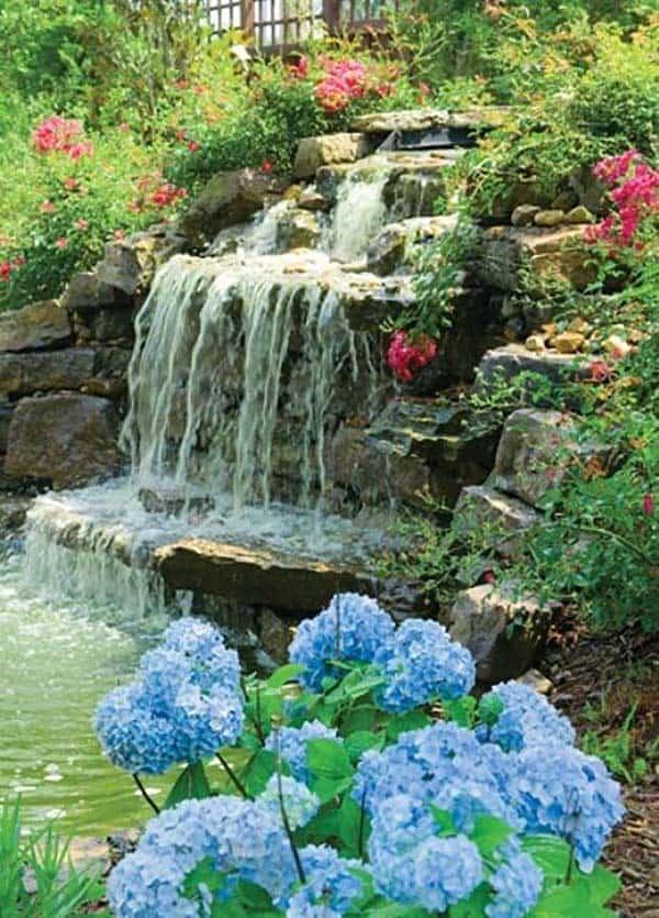 Tranquil Backyard Waterfalls-13-1 Kindesign