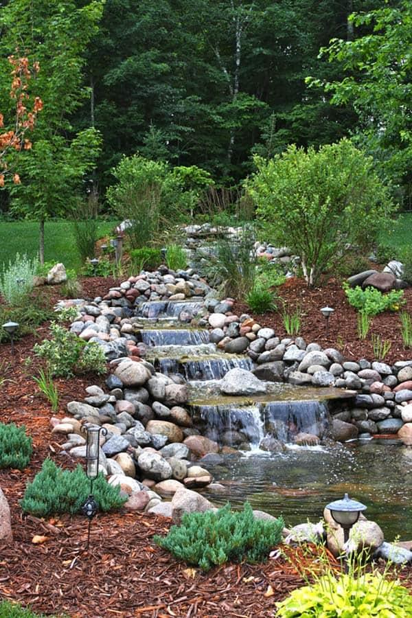 Tranquil Backyard Waterfalls-16-1 Kindesign