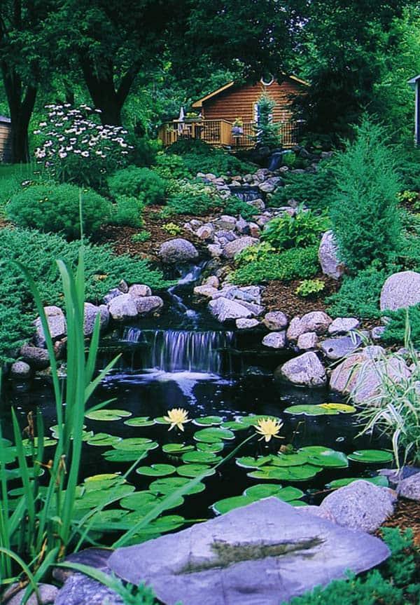 Tranquil Backyard Waterfalls-18-1 Kindesign