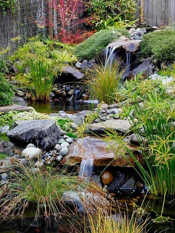 53 Incredibly fabulous and tranquil backyard waterfalls on spring ideas for backyard, wall ideas for backyard, fire pit ideas for backyard, lawn ideas for backyard,