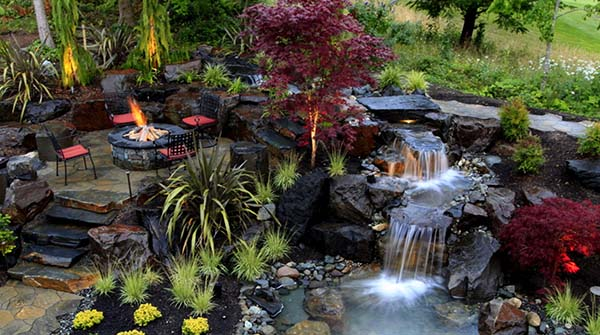 Tranquil Backyard Waterfalls-52-1 Kindesign