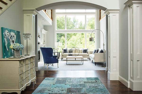 featured posts image for Beautiful transitional style residence showcasing serene interiors