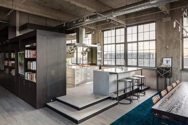 featured posts image for Historic flour mill converted to industrial style loft in Denver