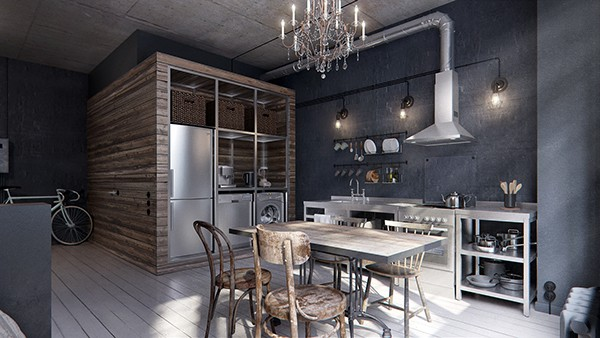 featured posts image for Dark and moody compact studio interiors in Moscow
