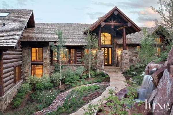 featured posts image for Fascinating rustic mountain retreat built for family living in Vail