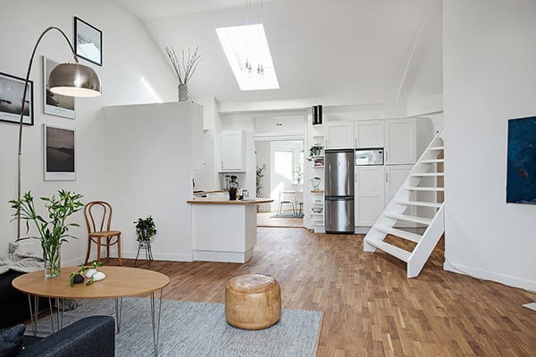 featured posts image for Bright and spacious two-level apartment in Stockholm