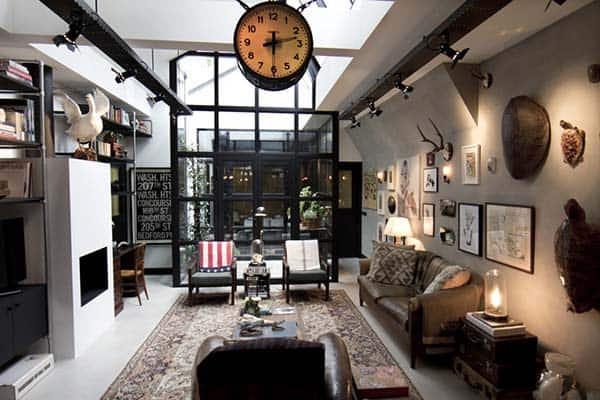 featured posts image for Garage converted into an eclectically designed loft in Amsterdam