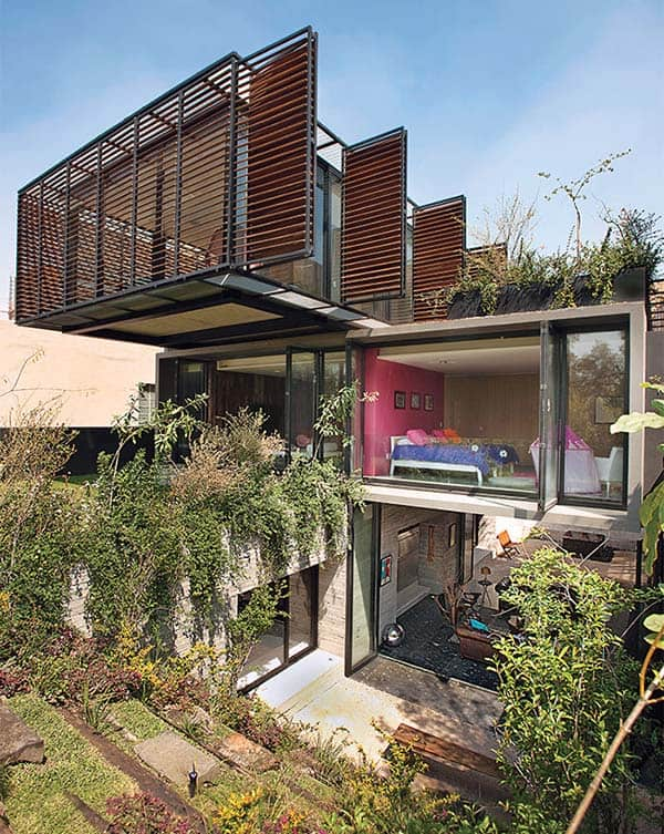 featured posts image for Stacked house in Mexico City with a cool garden oasis