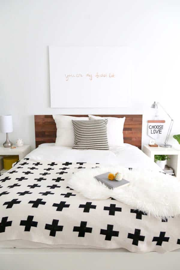 Black and White Bedroom Ideas-03-1 Kindesign