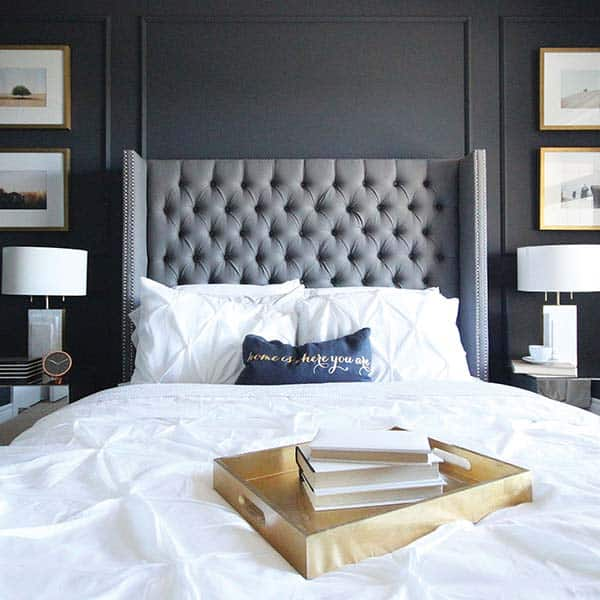 Black and White Bedroom Ideas-09-1 Kindesign