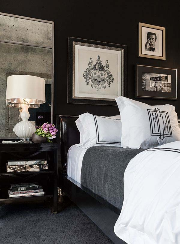 Black and White Bedroom Ideas-12-1 Kindesign