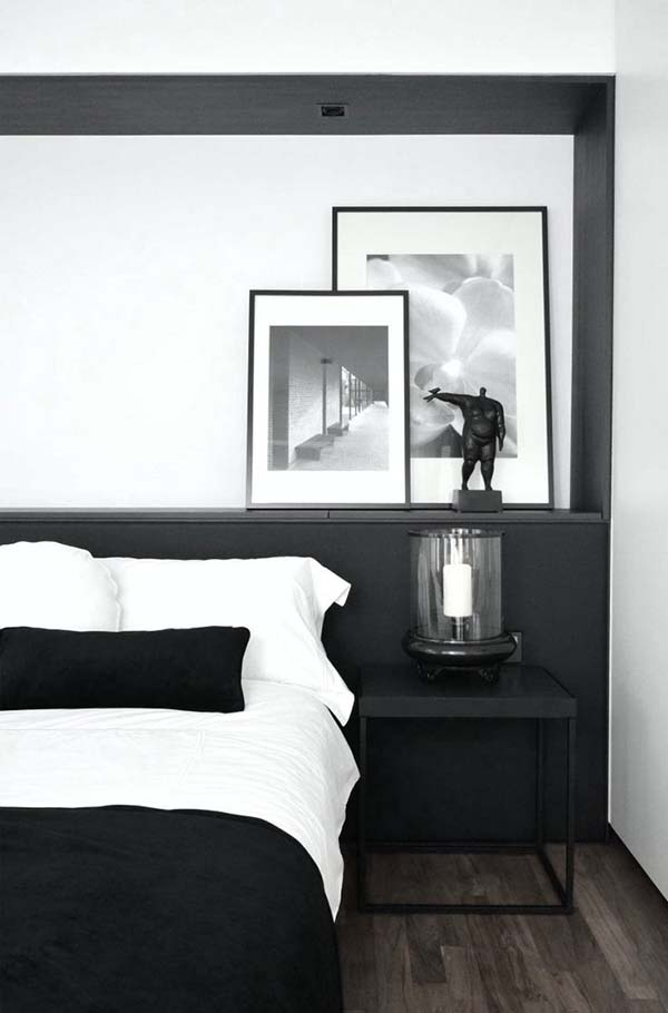 Black and White Bedroom Ideas-15-1 Kindesign