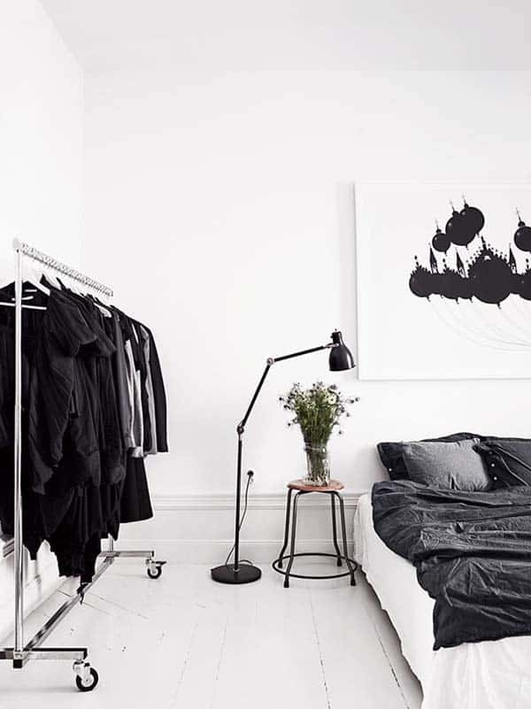Black and White Bedroom Ideas-20-1 Kindesign