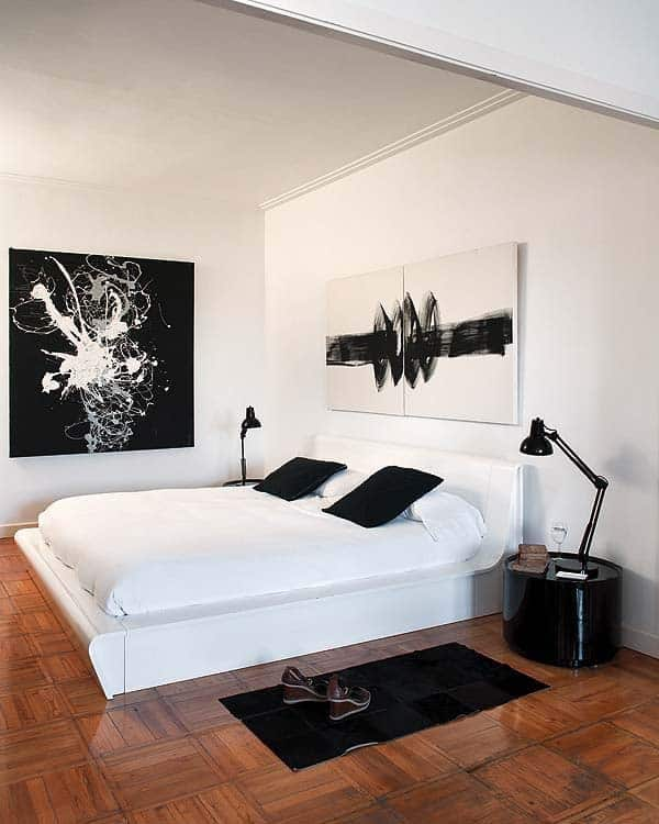 Black and White Bedroom Ideas-25-1 Kindesign
