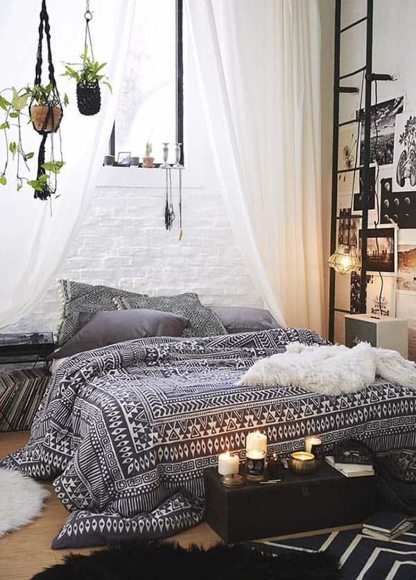 Black and White Bedroom Ideas-26-1 Kindesign