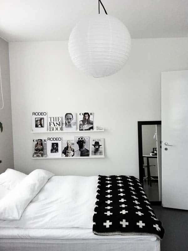 Black and White Bedroom Ideas-30-1 Kindesign