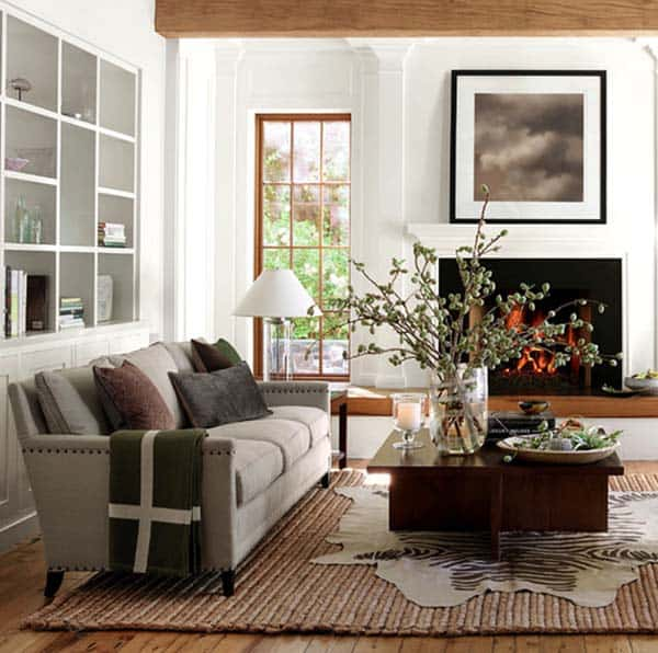 Warm Rustic Living Room Ideas: 30 Beautiful Fall-inspired Living Room Designs