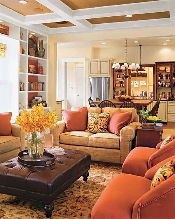 Living Room Decor Inspiration: 30 Beautiful Fall-inspired Living Room Designs