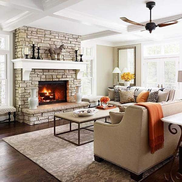 Fall-Inspiring Living Room Designs-28-1 Kindesign