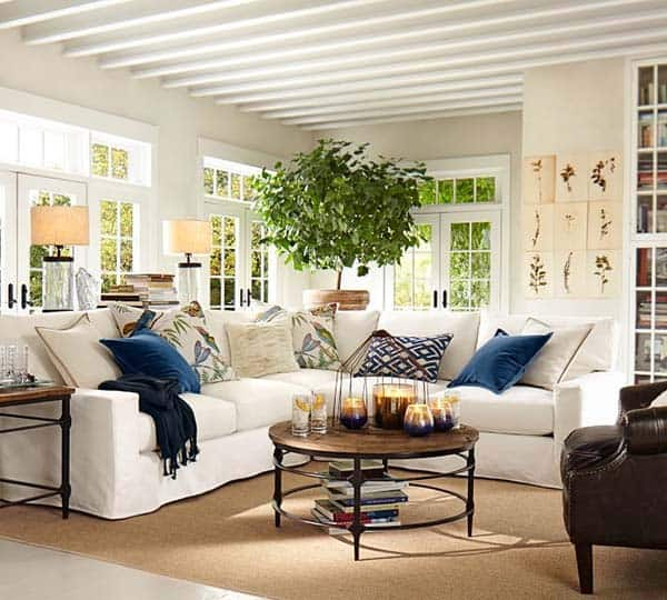 40 Best Cozy Farmhouse Living Room Lighting Lamps Decor: Light-filled Living Rooms: 40 Absolutely Brilliant Ideas