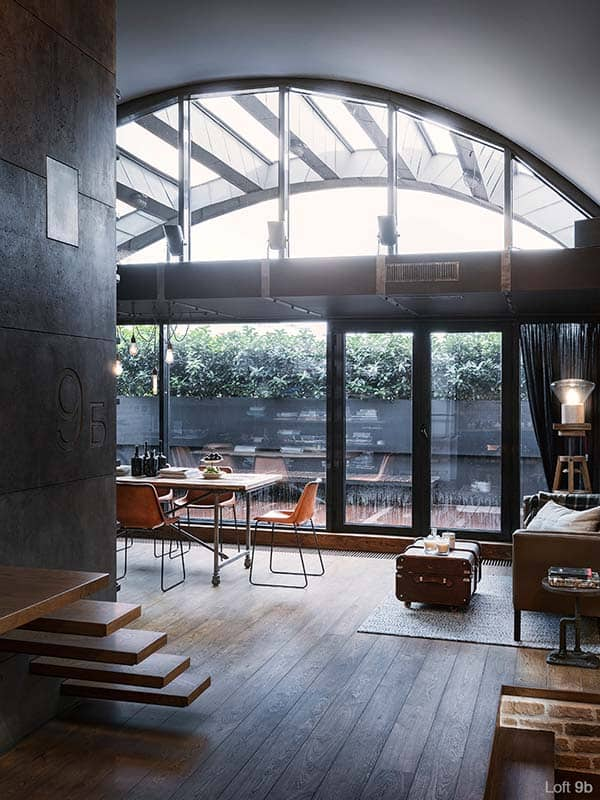 featured posts image for Attic apartment with a visually pleasing industrial aesthetic