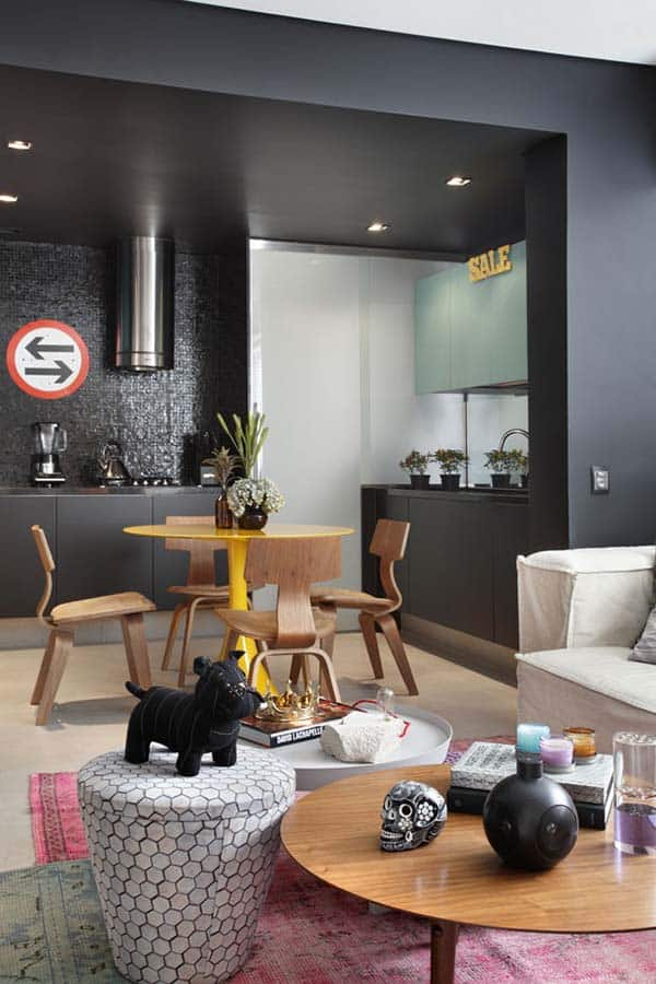 Masculine Style Apartment-Studio roca-05-1 Kindesign