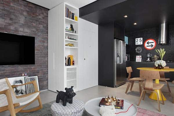 Masculine Style Apartment-Studio roca-08-1 Kindesign