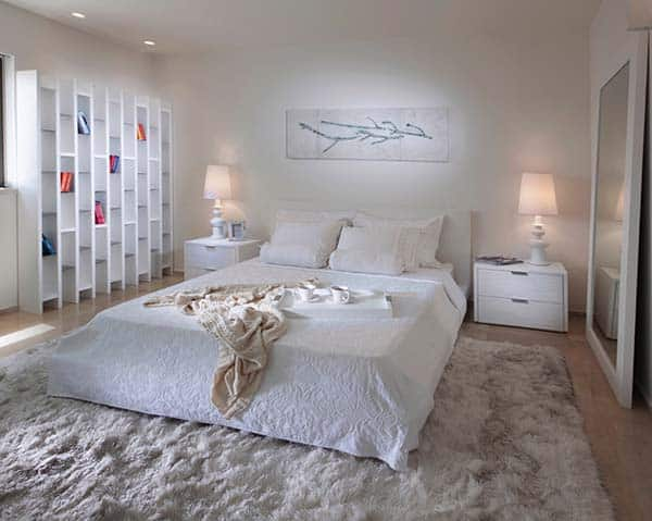 Dreamy White Bedroom Designs-05-1 Kindesign