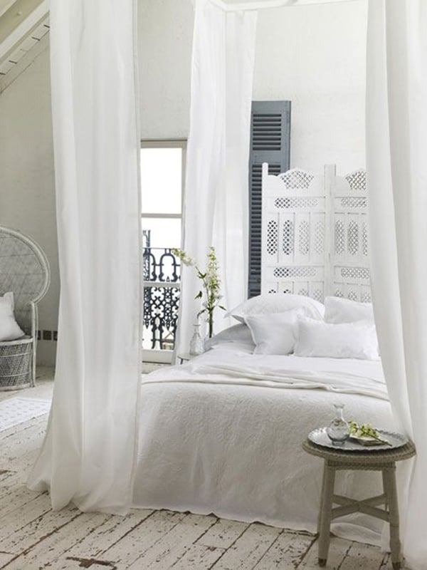 Dreamy White Bedroom Designs-09-1 Kindesign