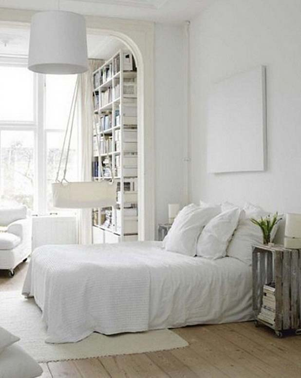 Dreamy White Bedroom Designs-19-1 Kindesign