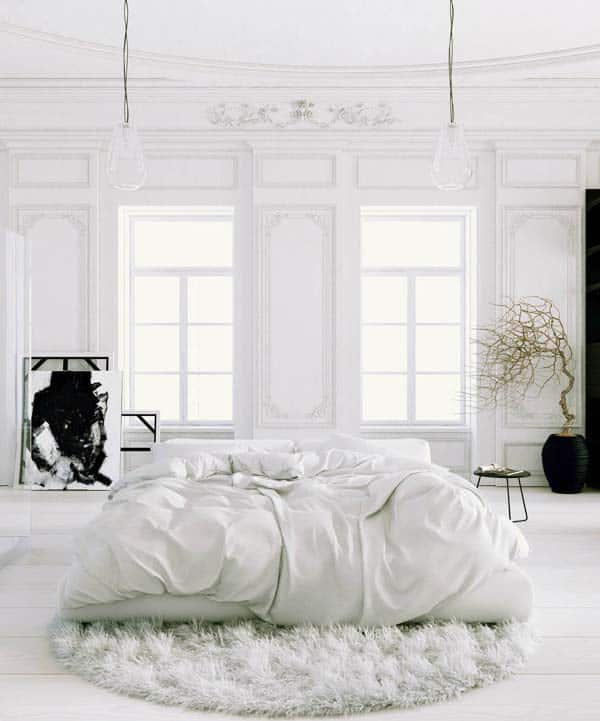 Dreamy White Bedroom Designs-22-1 Kindesign