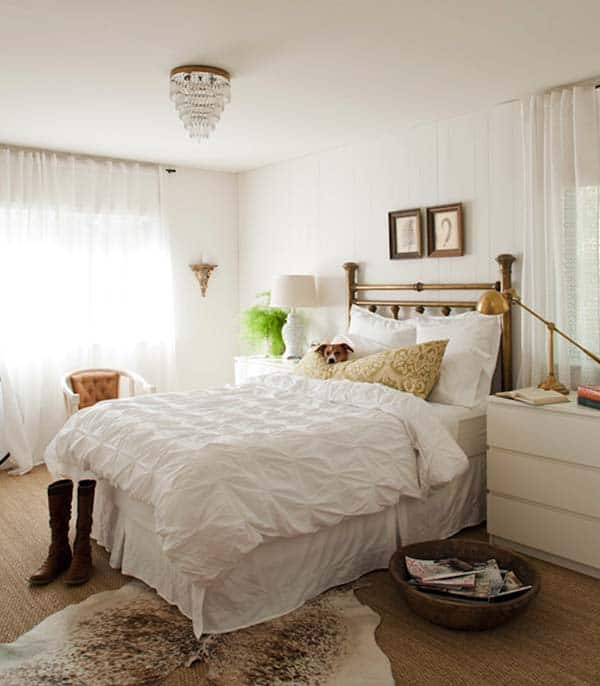 Dreamy White Bedroom Designs-24-1 Kindesign