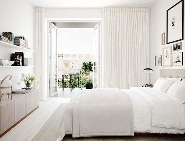 Dreamy White Bedroom Designs-30-1 Kindesign