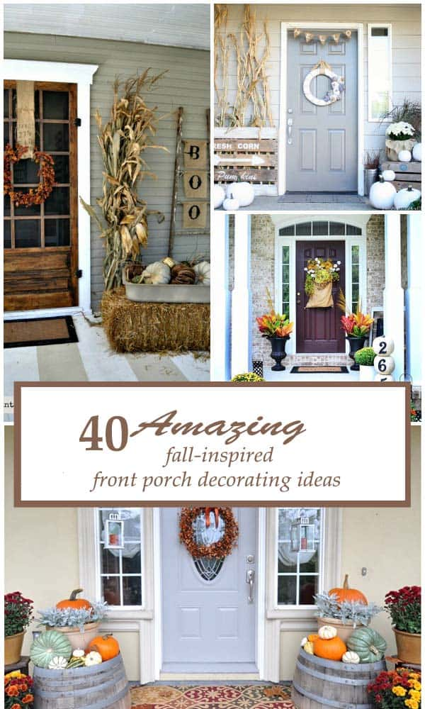 40 Amazing fall-inspired front porch decorating ideas