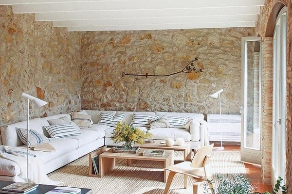 featured posts image for Renovated home with charming rustic interiors in Girona, Spain