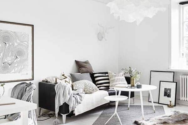 featured posts image for Delightful one-room Scandinavian apartment with bright interiors