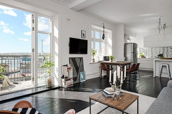 featured posts image for Impressive small apartment boasts magical views over Gothenburg