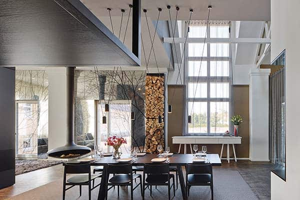 featured posts image for Stunning German loft features earthy tones with pops of color